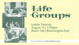 11:00am - Life Group Leader Training - East
